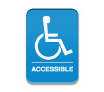 "Blue Accessible Sign 6""x9"""